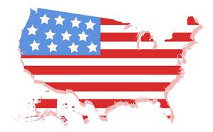 flag map USA