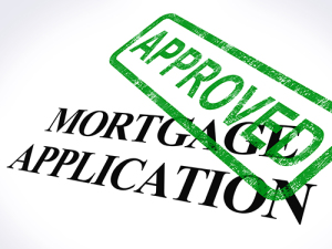 biweekly mortgage: Mortgage Application with Approved Stamp