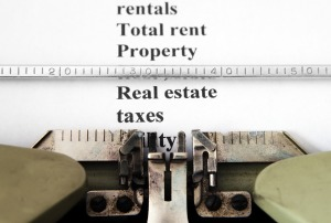 Real estate tax concept