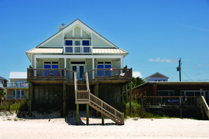 Rental report: An image of a beachfront home.